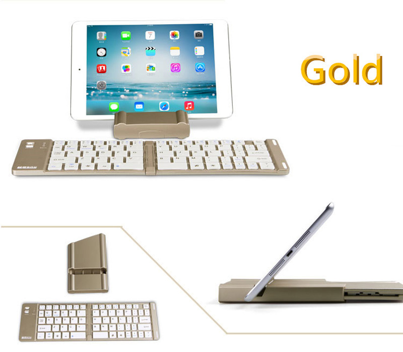 Best Aluminium Alloy Folding iPhone Samsung iPad Air Mini PC Notebook Bluetooth Keyboard PKB02_8