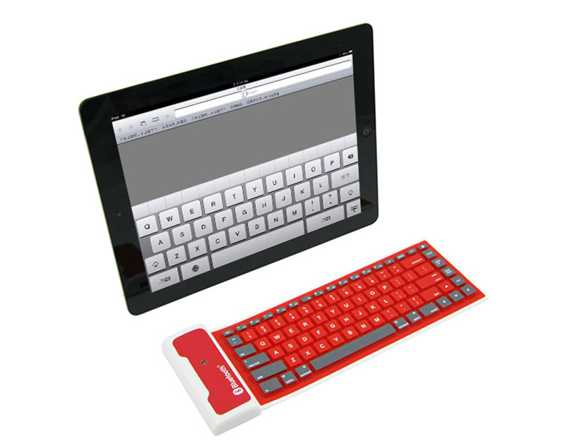 Wireless Bluetooth Foldable Silicone Keyboard For iPad PC Phone PKB05_14