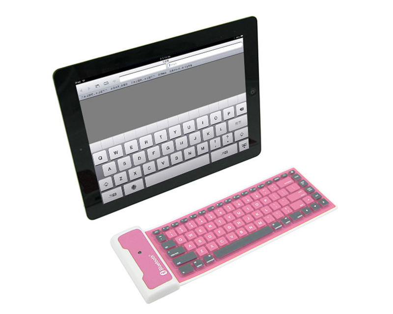 Wireless Bluetooth Foldable Silicone Keyboard For iPad PC Phone PKB05_9