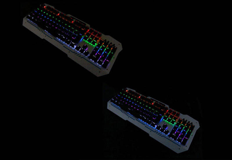 Cool Mechanical Keyboard With Colorful Light For Desktop PC PKB07_12