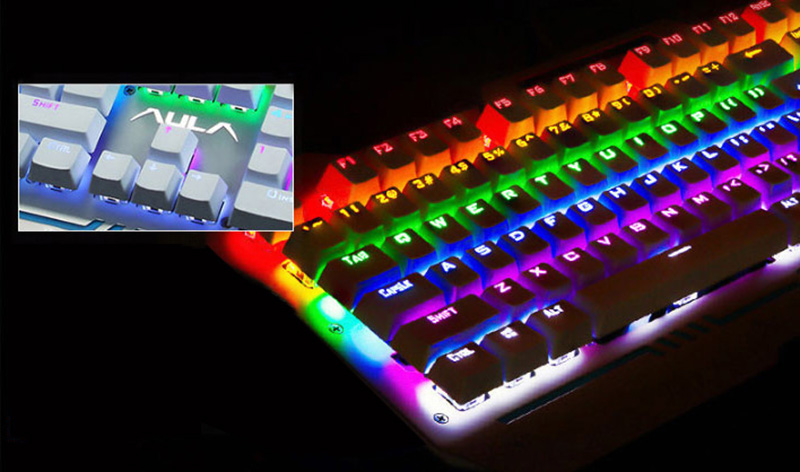 Cool Mechanical Keyboard With Colorful Light For Desktop PC PKB07_14