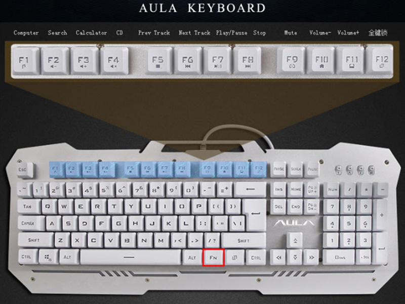 Cool Mechanical Keyboard With Colorful Light For Desktop PC PKB07_17
