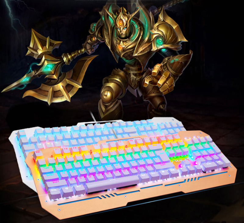Cool Mechanical Keyboard With Colorful Light For Desktop PC PKB07_20