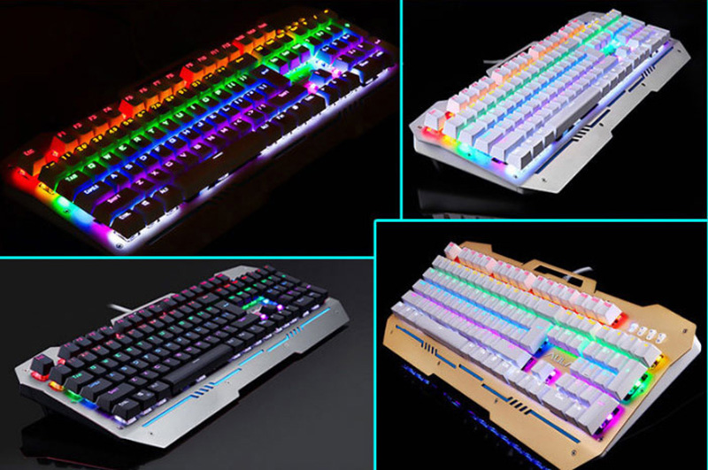 Cool Mechanical Keyboard With Colorful Light For Desktop PC PKB07_8