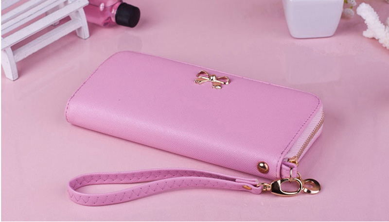 Smart Leather Cell Phone Wallets Credit Card Wallet For Women PW01_10