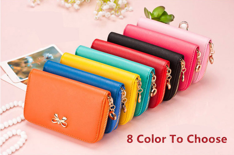Smart Leather Cell Phone Wallets Credit Card Wallet For Women PW01_12