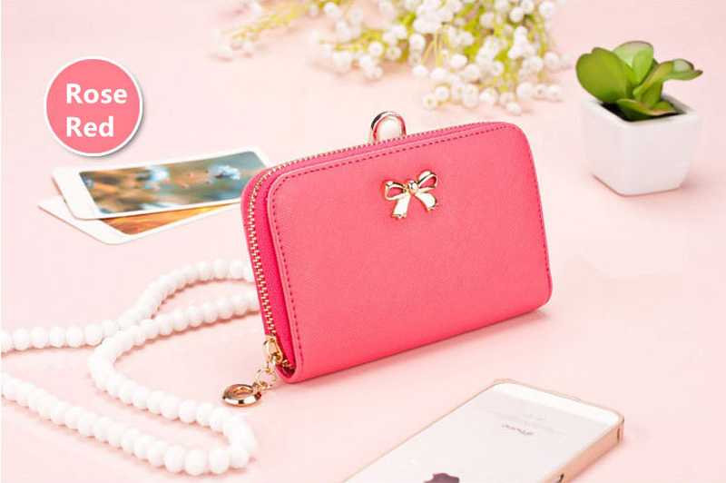 Smart Leather Cell Phone Wallets Credit Card Wallet For Women PW01_14