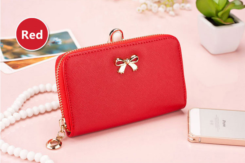 Smart Leather Cell Phone Wallets Credit Card Wallet For Women PW01_20