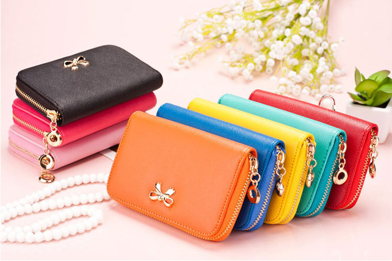 Smart Leather Cell Phone Wallets Credit Card Wallet For Women PW01_21