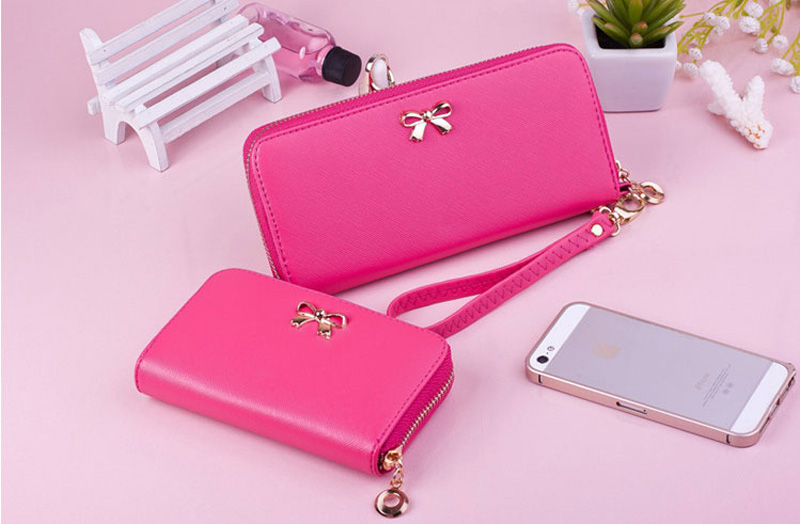 Smart Leather Cell Phone Wallets Credit Card Wallet For Women PW01_3