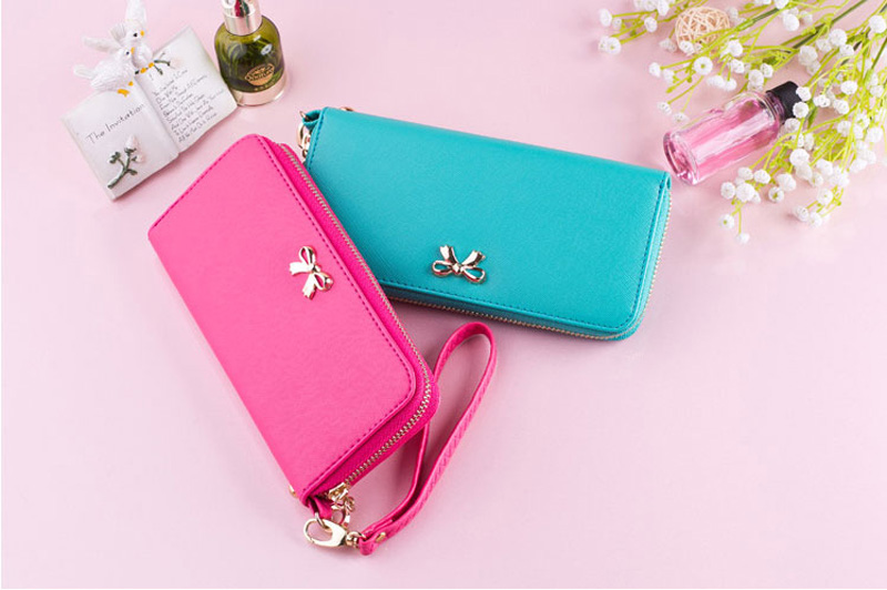 Smart Leather Cell Phone Wallets Credit Card Wallet For Women PW01_4