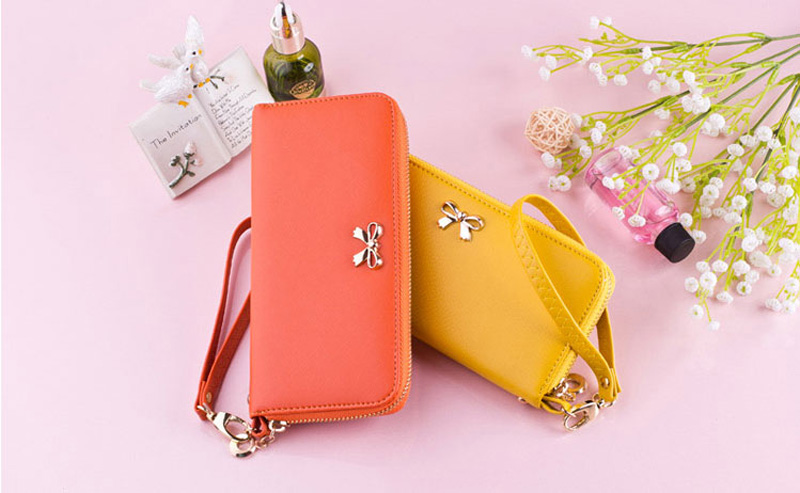 Smart Leather Cell Phone Wallets Credit Card Wallet For Women PW01_7