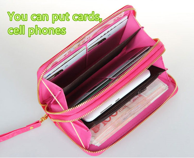 Leather Cell Phone Wallet With CardHolder For iPhone And Sumsung PW03_11