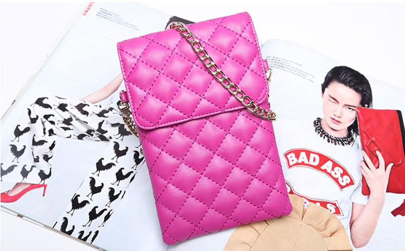Best Mini Messenger Bag 2 Layer Cellphone Wallets PW04_12