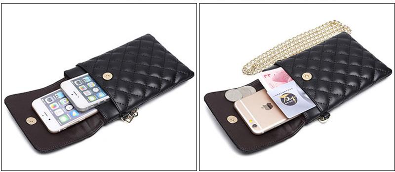 Best Mini Messenger Bag 2 Layer Cellphone Wallets PW04_7