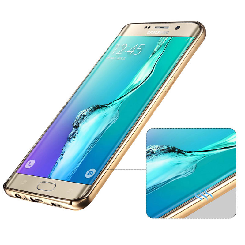 Anti-fall TPU Protective Transparent Cover Case For Samsung S6 And Edge SG601_9