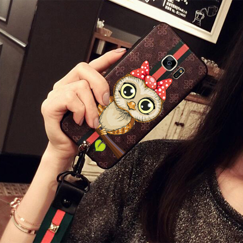 Vintage Embossed Painting All-inclusive Case With Lanyard For Samsung S6 And Edge SG604_7