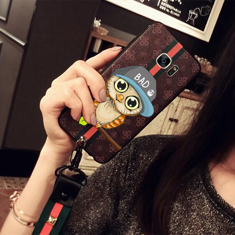 Vintage Embossed Painting All-inclusive Case With Lanyard For Samsung S6 And Edge SG604_8
