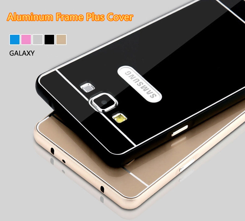 Metal Gold Case Cover With Frame For 2019 Samsung Galaxy S6 SG605_6