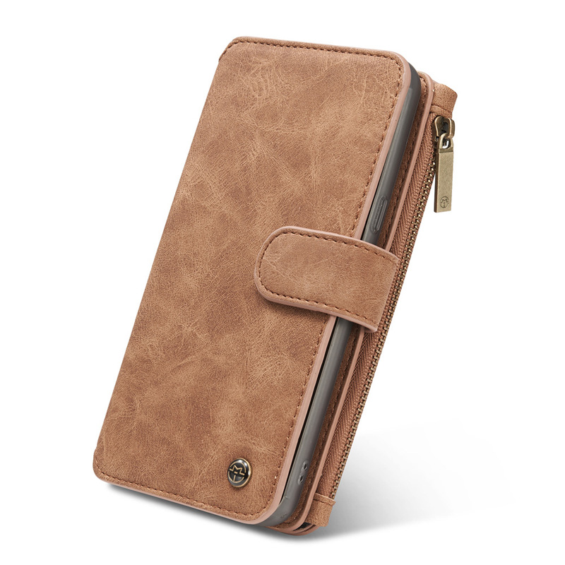 Vintage Leather Wallet Case For Samsung S9 8 7 6 Edge Plus Note 8 5 With Card Slot SG609_10