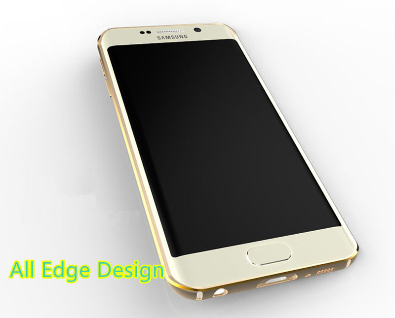 Gold Samsung Galaxy S6 And S6 Edge Plastic Cases Or Covers With Metal Frame SG612_11