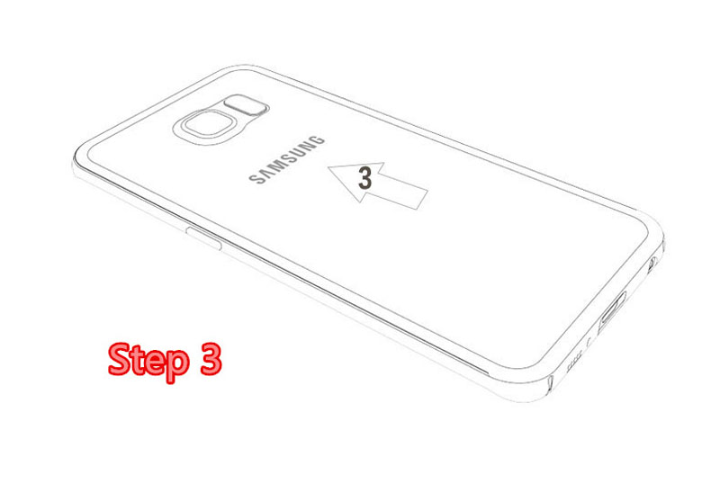 Gold Samsung Galaxy S6 And S6 Edge Plastic Cases Or Covers With Metal Frame SG612_16