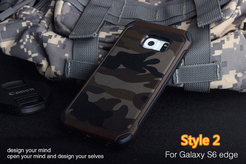 Cool Camouflage Samsung Galaxy S6 And S6 Edge TPU Protective Case Or Covers SG613_15