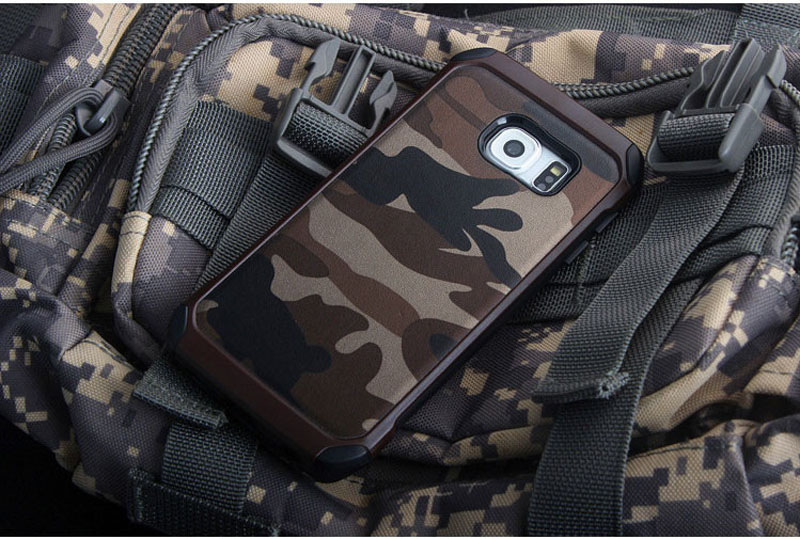 Cool Camouflage Samsung Galaxy S6 And S6 Edge TPU Protective Case Or Covers SG613_17