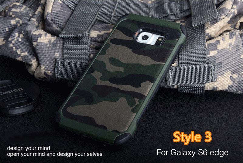 Cool Camouflage Samsung Galaxy S6 And S6 Edge TPU Protective Case Or Covers SG613_18