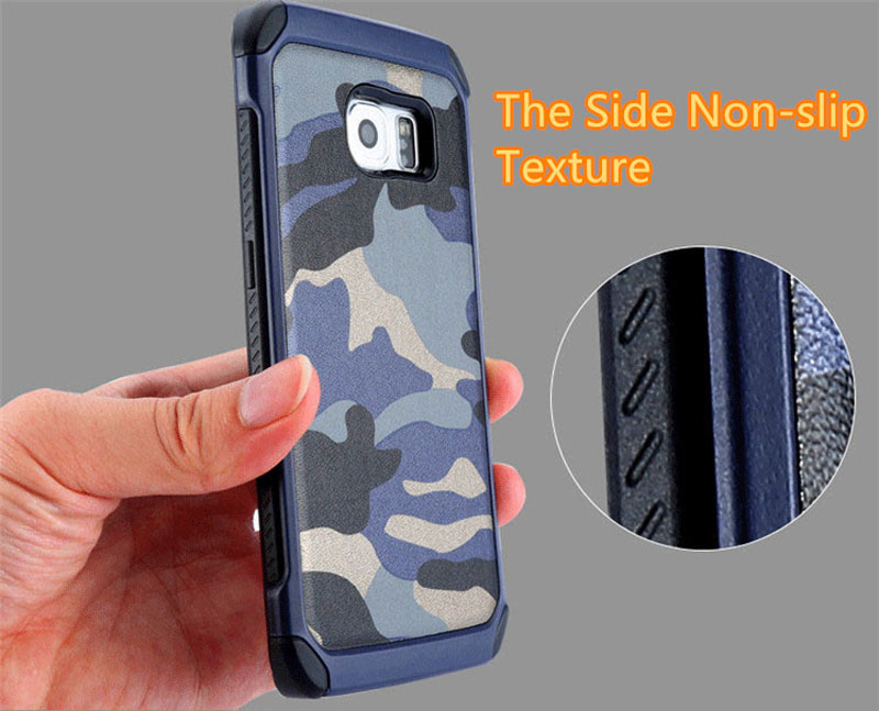 Cool Camouflage Samsung Galaxy S6 And S6 Edge TPU Protective Case Or Covers SG613_9