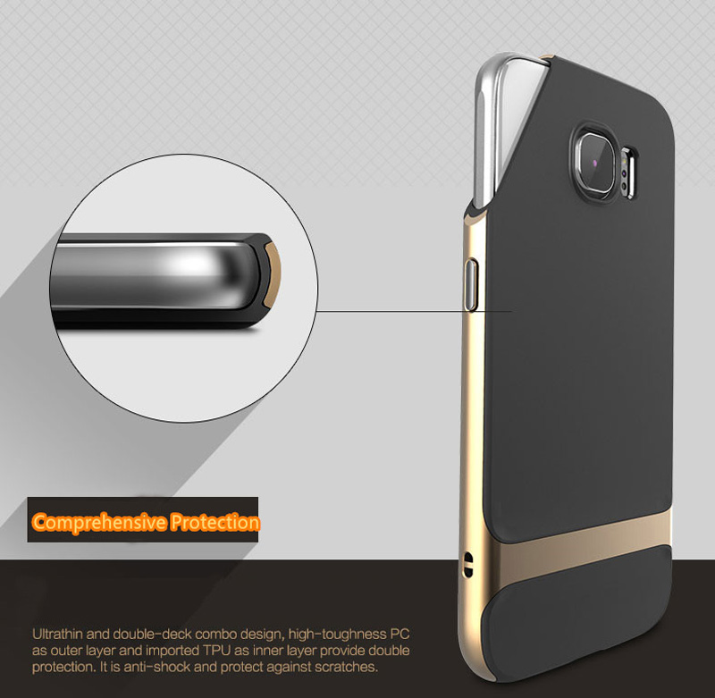 2018 Gold Samsung Galaxy S8 S6 Protector Case Cover With Metal Frame SG614_12