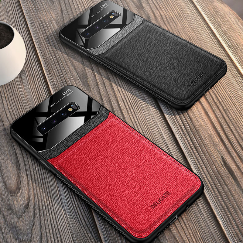 Glass Mirror With Leather Case For Samsung S9 8 Plus SG614_7