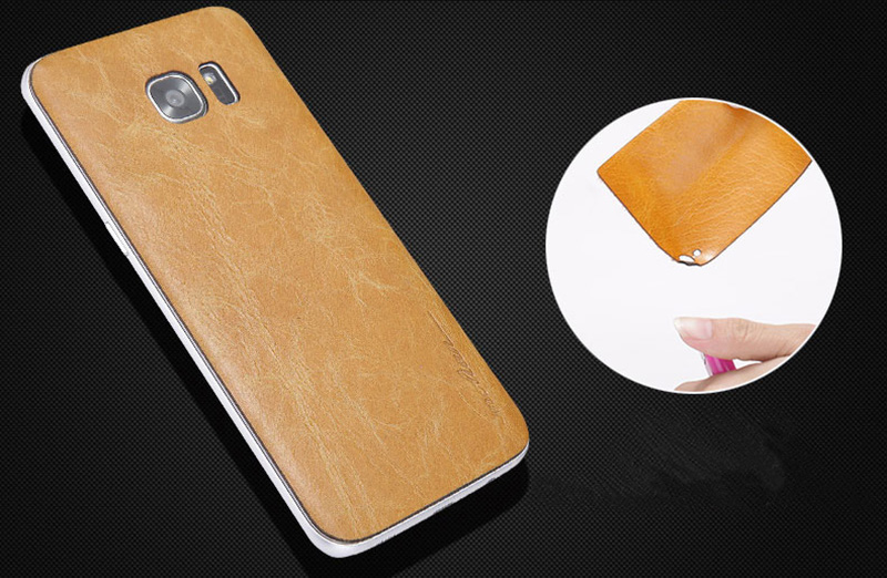 Best 2019 Real Leather Orange S7 And S7 Edge Protective Case Cover SG704_11