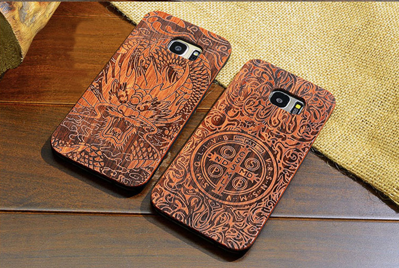 Creative Carved Samsung S8 S7 Edge S8+ Solid Wood Case SG803_13