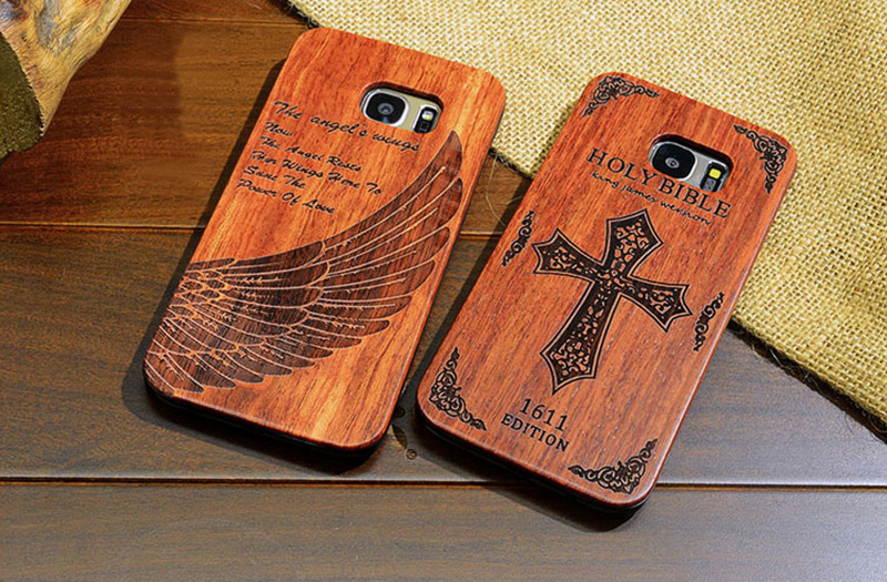 Creative Carved Samsung S8 S7 Edge S8+ Solid Wood Case SG803_14