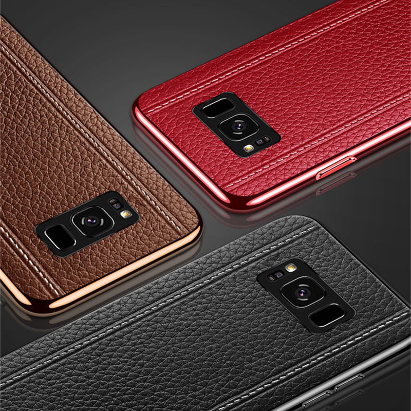 All-inclusive Real Protective Leather Case For Samsung S9 S8 Plus SG809_9