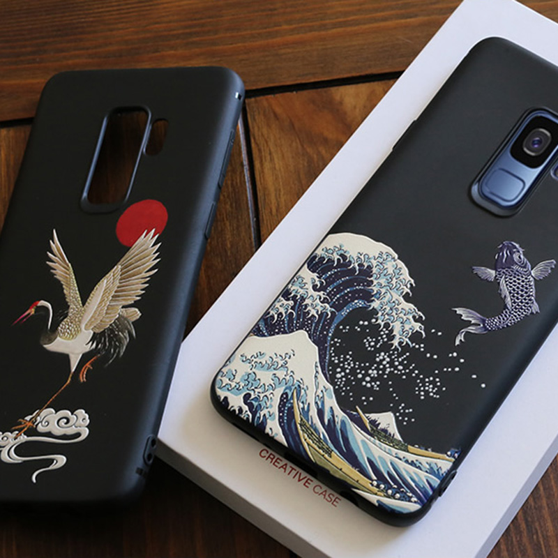 3D Relief Soft Case Cover For Samsung S9 And Plus SG905_8
