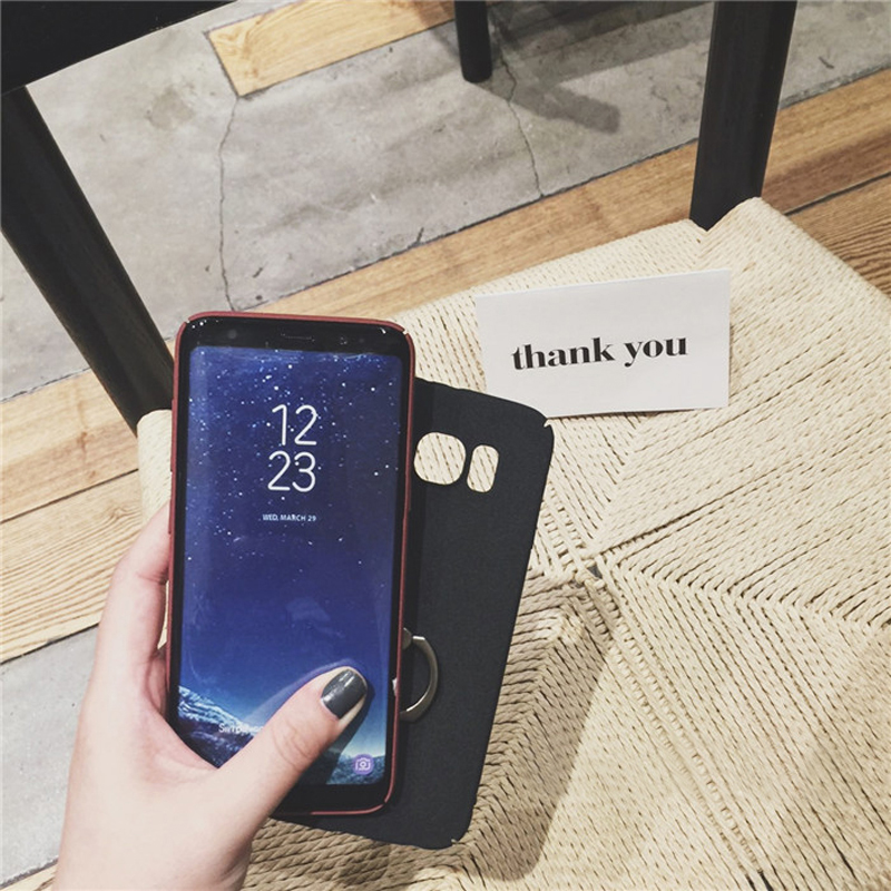 Perfect Simple Samsung S9 S8 S7 S6 Edge Plus Note 8 Case With Ring SG908_9