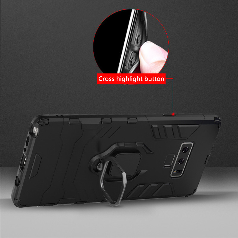 Protective Anti-slip Samsung Note 9 10 20 Plus Case With Ring Bracket SGN102_11