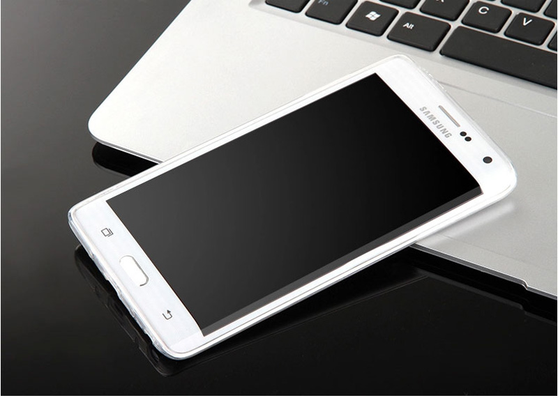 Cheap Slim Pink Silicone Samsung Galaxy Note Edge Case SGNE02_16