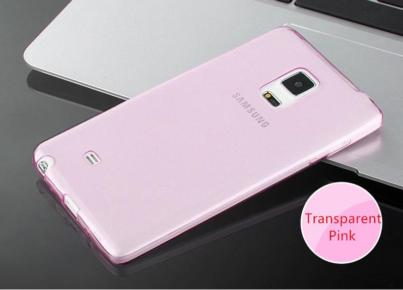Cheap Slim Pink Silicone Samsung Galaxy Note Edge Case SGNE02_24