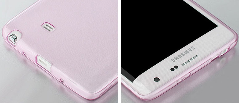Cheap Slim Pink Silicone Samsung Galaxy Note Edge Case SGNE02_26