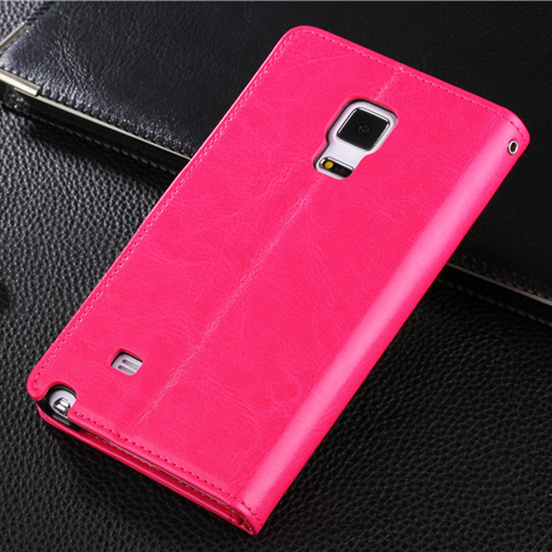 Protective Leather Clamshell Case For Samsung Note Edge N9150 With Card Slot SGNE03_10