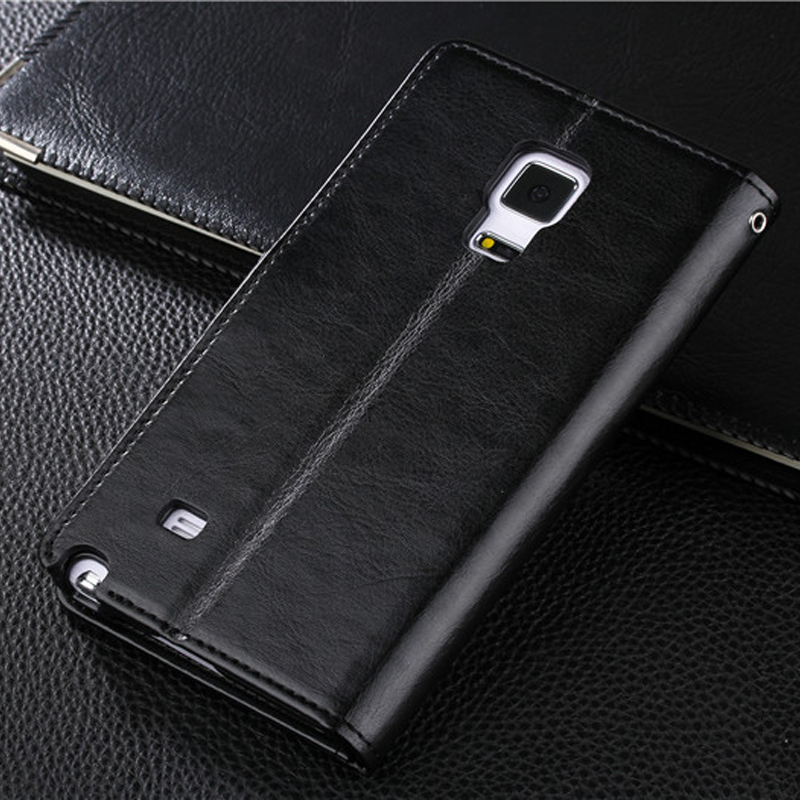 Protective Leather Clamshell Case For Samsung Note Edge N9150 With Card Slot SGNE03_13