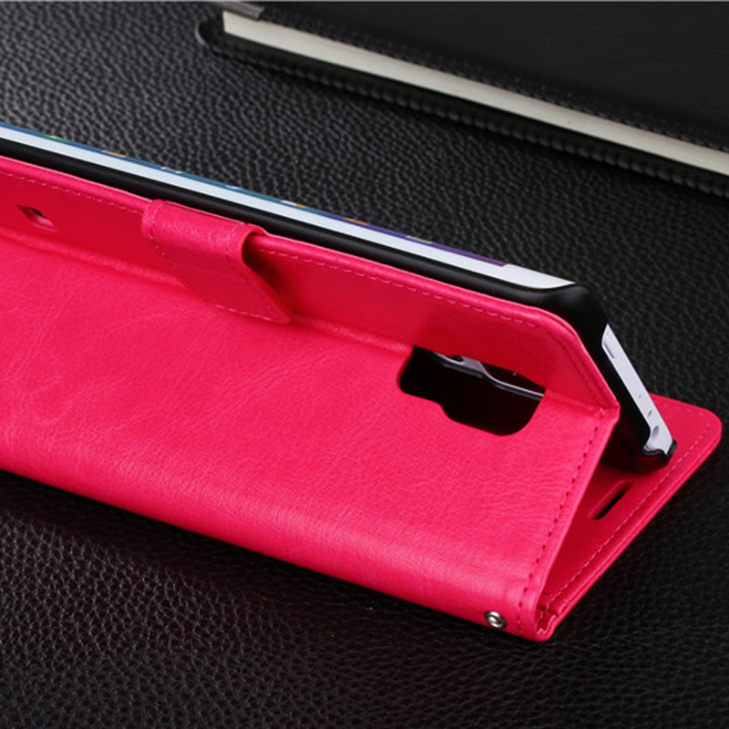 Protective Leather Clamshell Case For Samsung Note Edge N9150 With Card Slot SGNE03_9