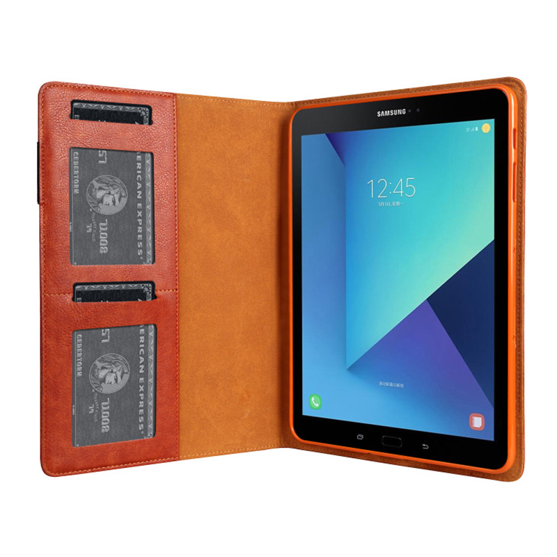 Leather Samsung Galaxy Tab S3 Case Cover With Card Holder And Pen Cap SGTC06_15