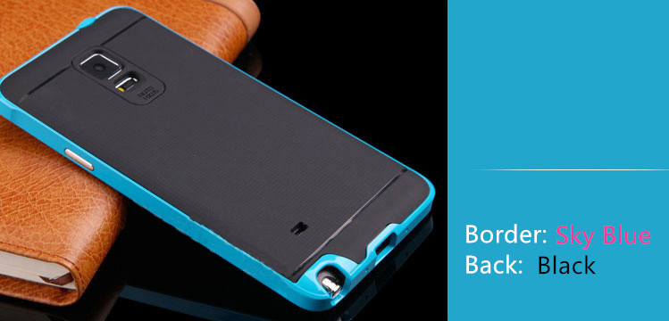 2018 Best Sky Blue Silicone Cases Or Covers For Samsung Note 4 SNT01_26