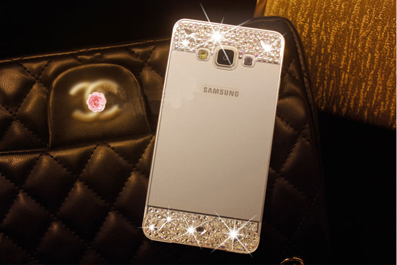 Perfect Pink Samsung Note 3 4 5 S5 S6 Bright Diamond Case With Metal Frame For Girls SNT02_17