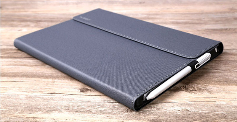 Black Leather Surface 3 Pro 3 4 5 6 Leather Cover Case With Pen Cap SPC06_12