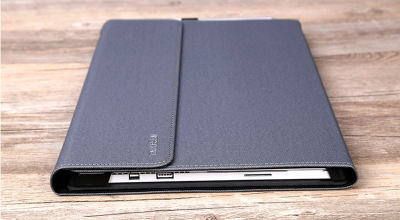 Black Leather Surface 3 Pro 3 4 5 6 Leather Cover Case With Pen Cap SPC06_13